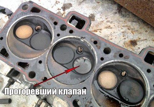 Могут ли от газа прогореть клапана?